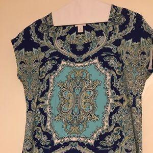 Tops - Chicos print tshirt
